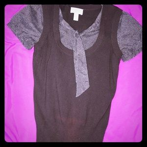 Work blouse with sweater vest